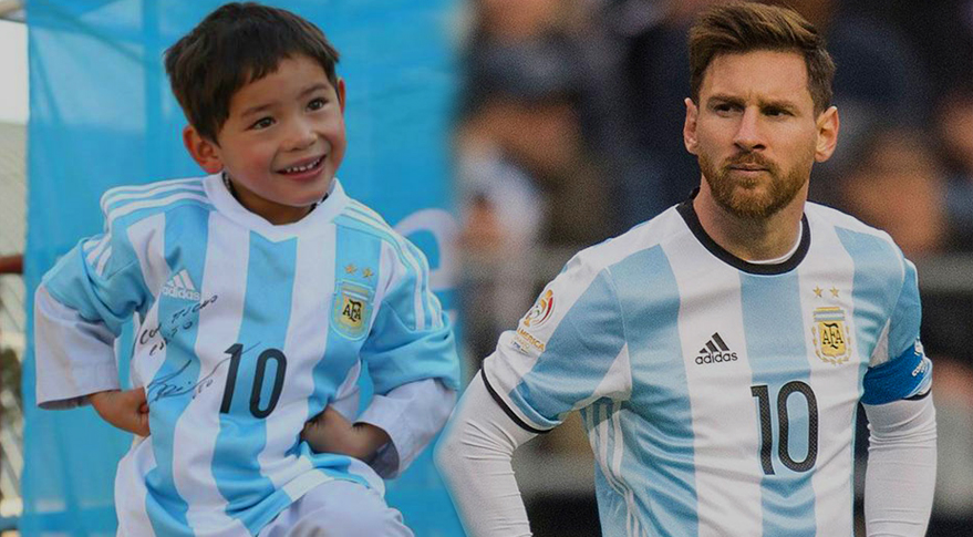 Seven Years Old Afghan Lionel Messi fan is on Taliban's Target