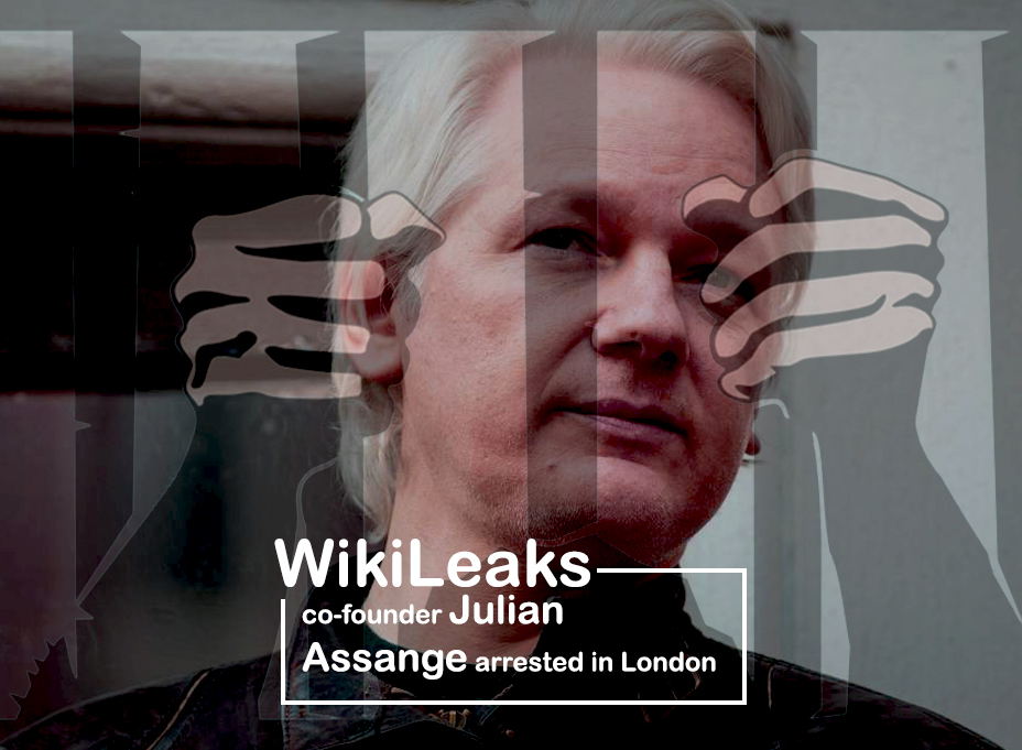 Co-founder of WikiLeaks Detained in London facing Extradition to the U.S.
