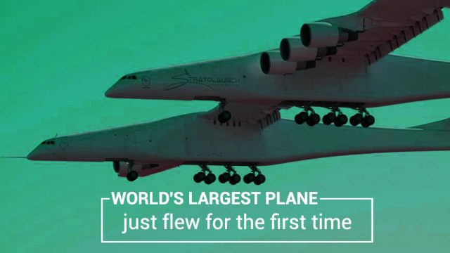 For the First Time World's Largest Plane Flew in the air