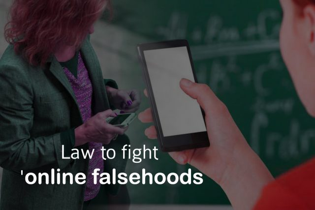 Singapore to fight online Falsehoods with the Help of Sweeping Law