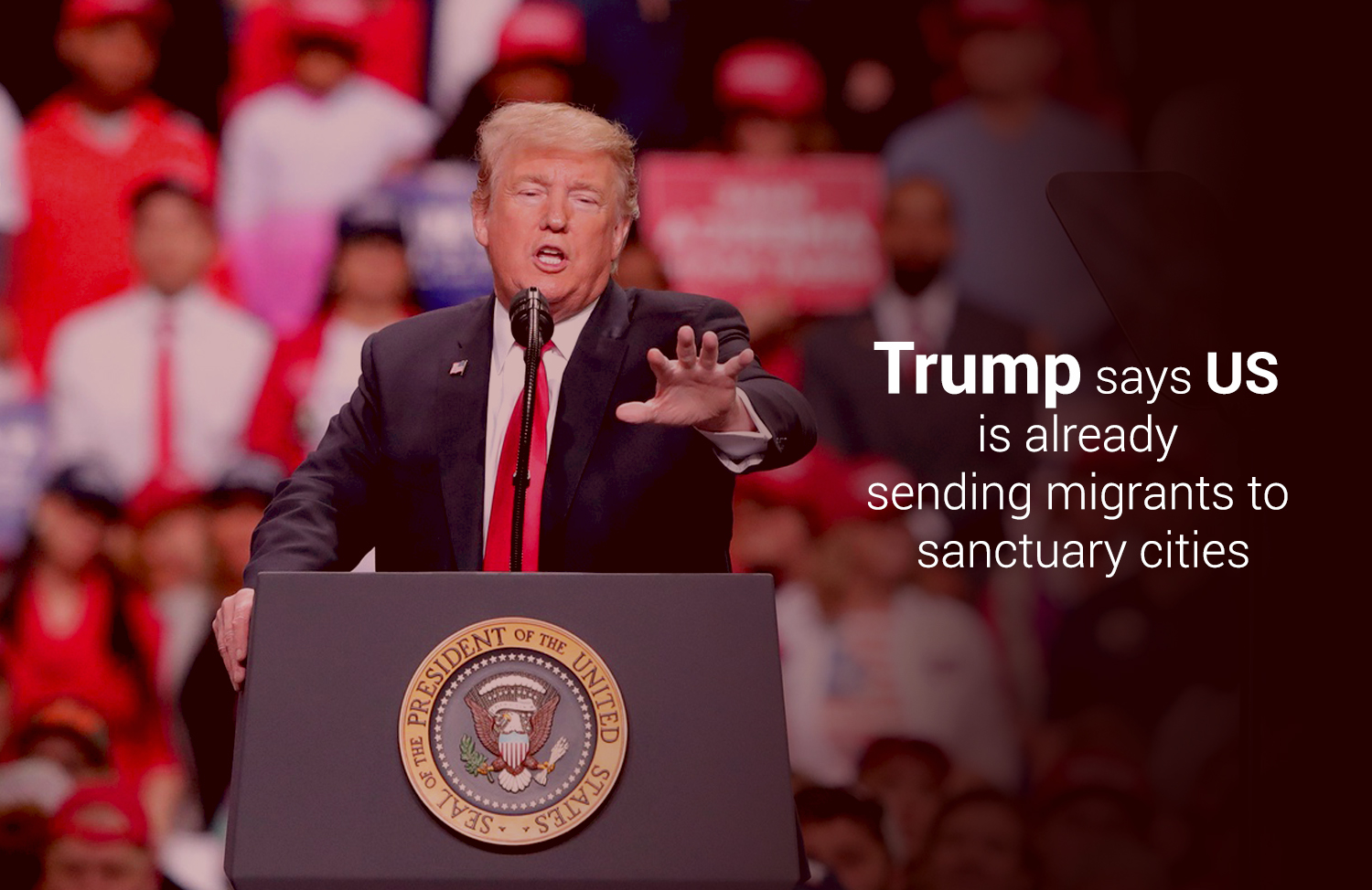 Trump Announced they Already Directing Migrants to Secure Cities