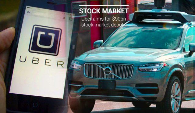 Uber Targets 90 Billion Dollars Stock Market Debut