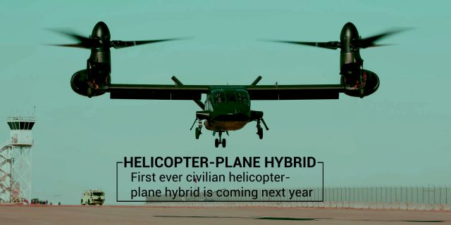 World's First Civilian Helicopter-plane hybrid coming in 2020