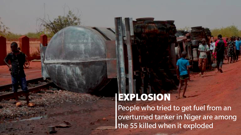 55 People Killed in Niger After Overturned Fuel Tanker Exploded