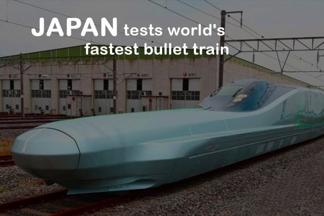Japan Tests the Fastest ever Bullet Train of the World