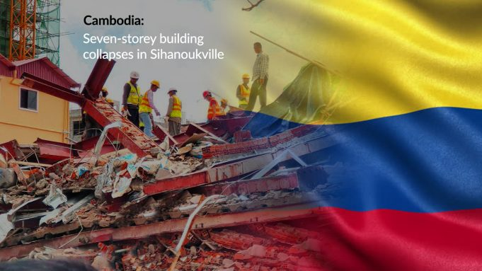 Under-construction Seven-story Building Collapsed in Cambodia