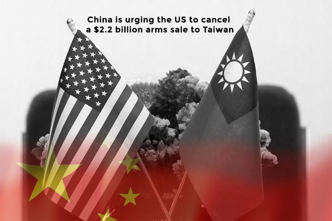 China is influencing the US to cancel arms sale to Taiwan