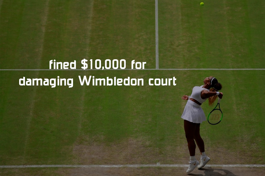 $10,000 fined to Serena Williams for damaging Wimbledon Court