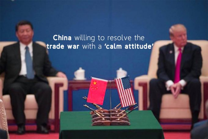 China Agrees to resolve the Trade Dispute with peaceful Attitude