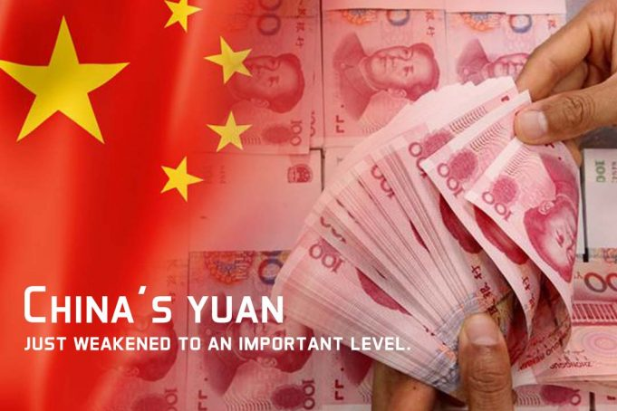 Chinese Yuan Loses its Value compared to Dollar at lowest Level