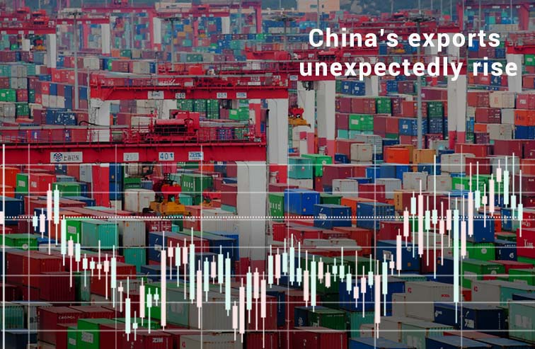 Exports of China rise unexpectedly in July