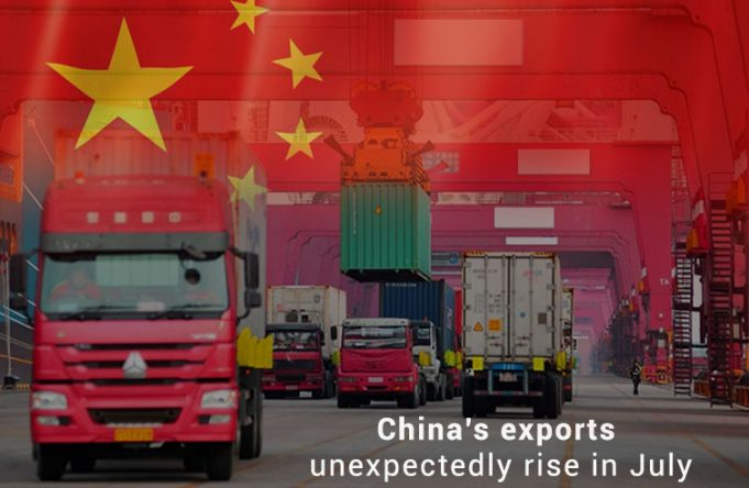 Exports of China Grow unexpectedly in July instead of more US Tariffs