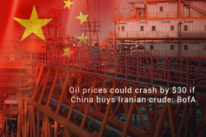 Oil Prices May Drop by $30 b/d if China Buys Iranian crude Oil
