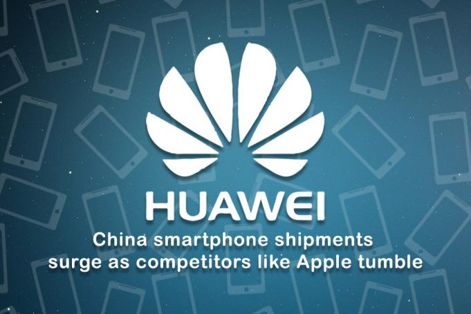 Smartphone Shipment of Huawei surge as opponents like Apple fall