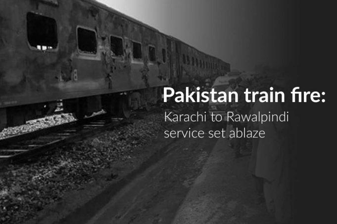 Tezgam Train caught fire killing over 70 People in Pakistan