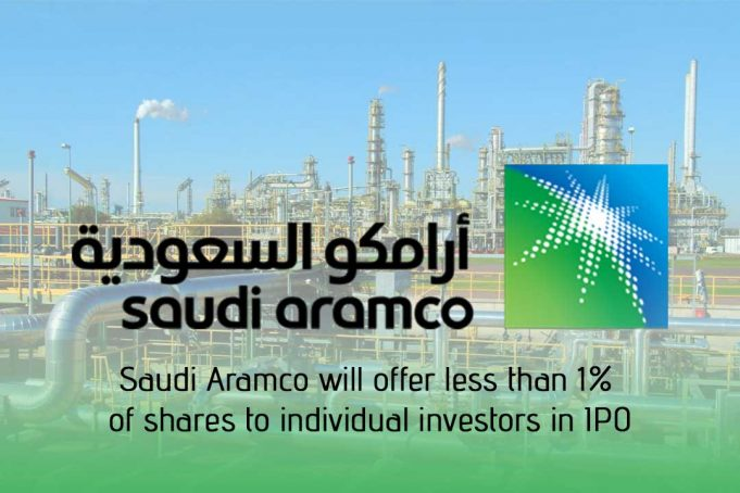 Aramco will offer below one percent of shares to individual investors in IPO