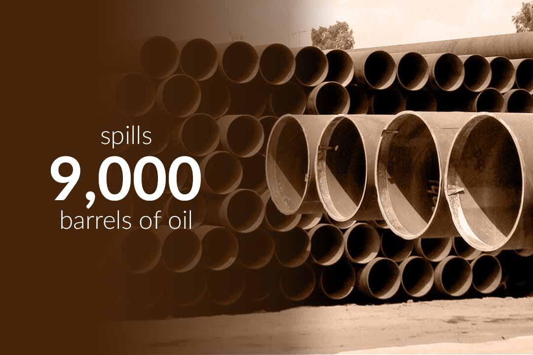 About 9,000 barrels of oil spill after leak in Keystone Pipeline