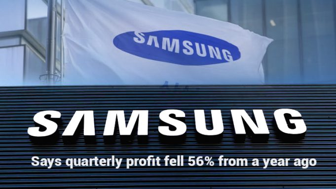 Quarterly Operating Profit drop 56% from last year – Samsung