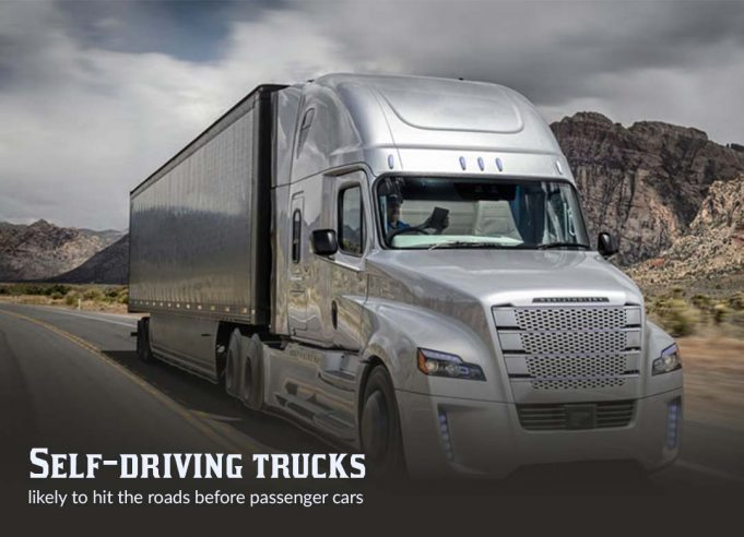 Self-driving Trucks more expected to hit roads before autonomous cars